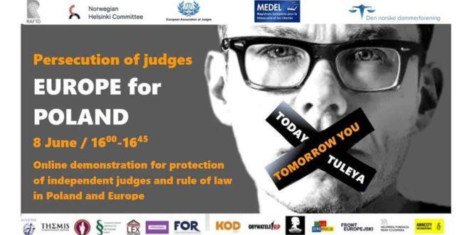 В Полша искат имунитета на съдия заради решение, огласено пред медии. Европейски магистрати с онлайн протести в защита на Игор Тулея